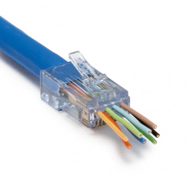 Super Platinum Ezex44 100028C Ezex Rj45 Cat5E 6 6A Connector 50Pc Redco Wiring Cloud Rectuggs Outletorg