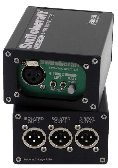 SWITCHCRAFT RMAS1 Single Channel Mic Splitter Custom Trans