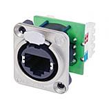 4 Pack Genuine Neutrik NE8MX-1 Ethercon Cable Connector Nickel Housing NEW Model!
